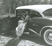 Side view of the 54 Buick.
