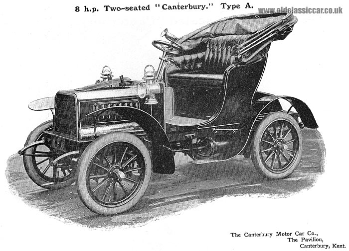 The 8hp Canterbury type A motor-car