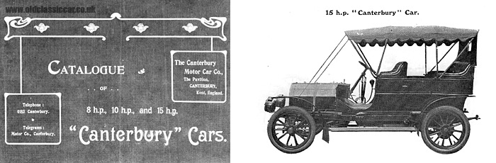 A catalogue for Canterbury Cars