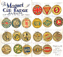 Collecting The Magnet motor car badges in 1929