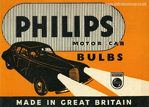 Leaflet about car bulbs