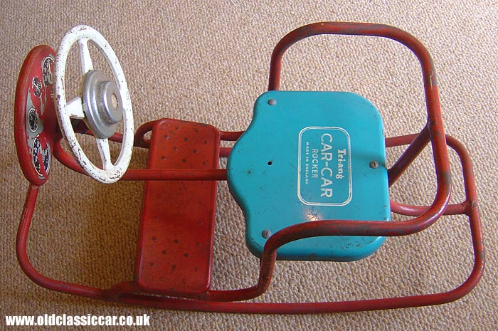 Tri-ang car-car rocking toy from the 1950s