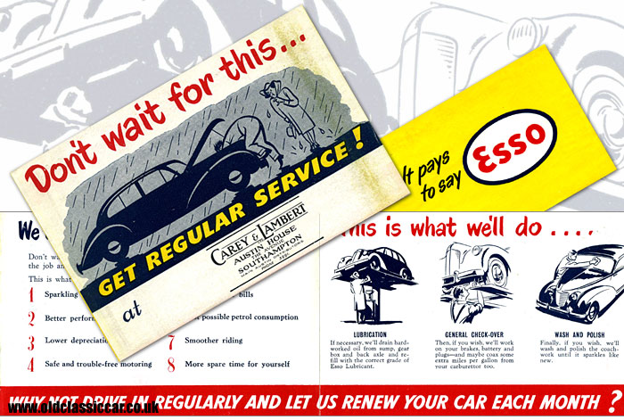 Regular car servicing information