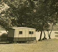 A vintage caravan
