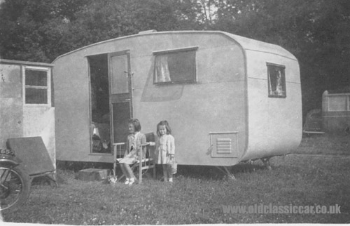 A basic caravan seen in 1948