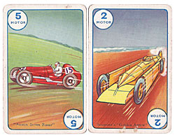 old card game featuring old cars
