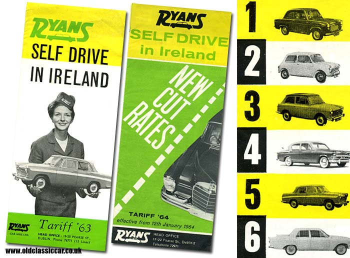 Car hire in Ireland in the 1960s