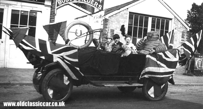 Ford car with passengers on board