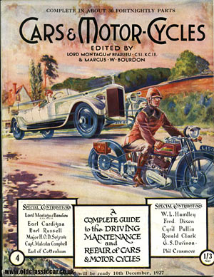 Cars & Motor-Cycles magazine cover