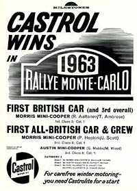 Castrol oils celebrate their Monte Carlo success