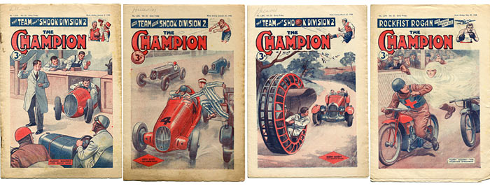 More motor racing scenes in the 1940s