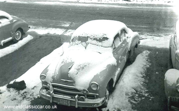 Chevrolet in use on winter's roads