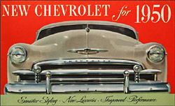 Catalogue cover for the 1950s Chevrolets