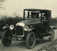 Three-seater Citroen Type A in 1927