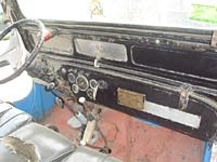 The Jeep's interior prior to restoration work starting
