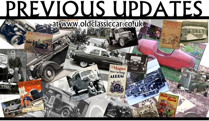 Motoring-related updates to this website