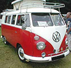 The classic VW 'splittie' Camper