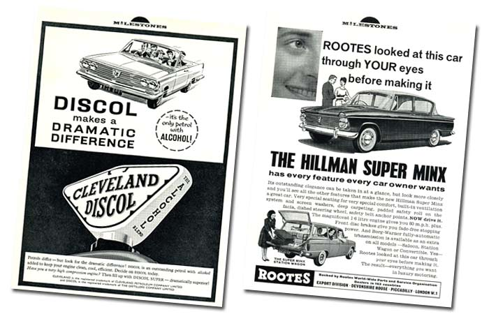 Ad for Cleveland Discol motor fuel