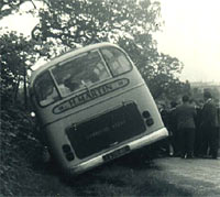 Crashed Bedford coach