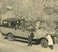 A vintage motor-coach in the Riviera