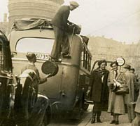 A coach being loaded in Bavaria