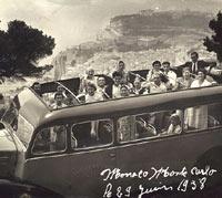 1930s coach overlooking Monaco