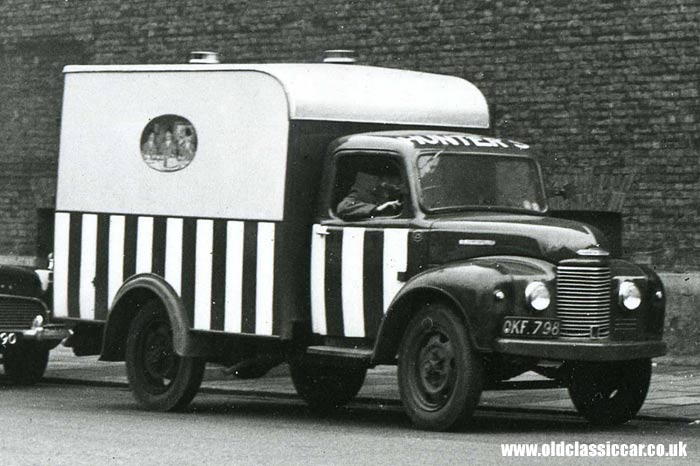 A Commer Superpoise belonging to a firm called Hunter's
