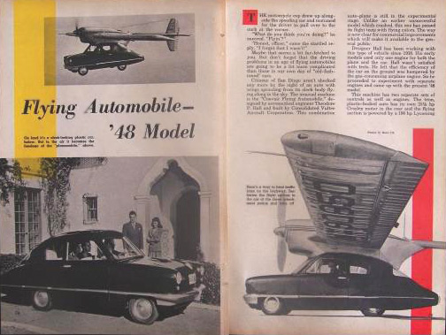 Magazine article from 1948 on the Convaircar