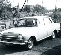 A four-door Cortina seen in 1967