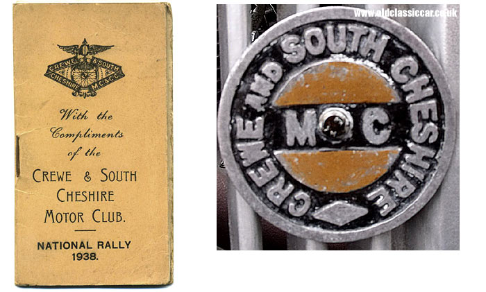 From the Crewe and South Cheshire Motor Club in 1938