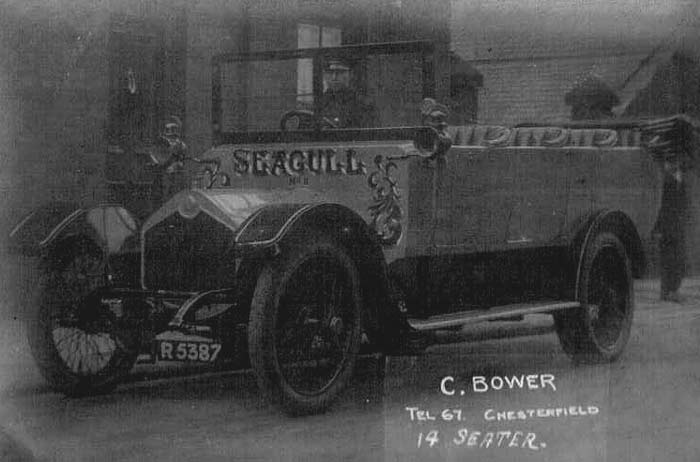 Advertising Bower's charabanc service
