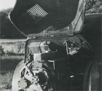 Crossley Streamline's engine.