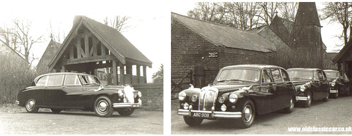 Bowers' Daimlers on funeral duty