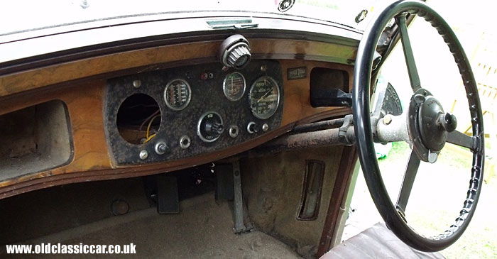 The Daimler's dashboard