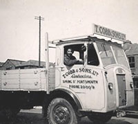 Dennis dropside lorry