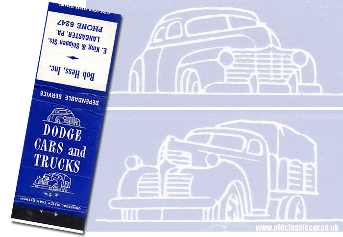Matchbook for Dodge cars and truck service