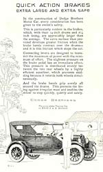 Advert for Dodge in 1923