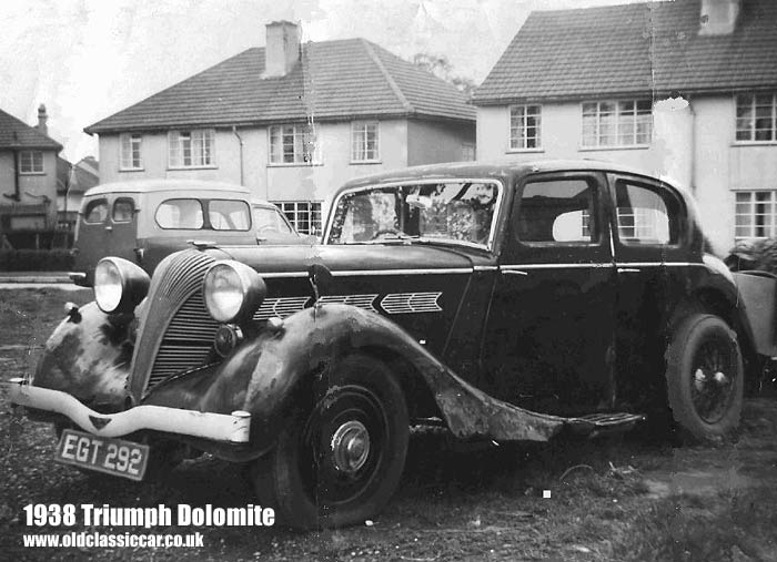Triumph Dolomite saloon from 1938