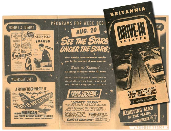 Britannia Theatre's drive-in movie from the 1950s