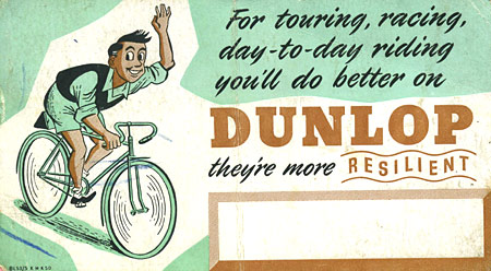 Dunlop bicycle tyres