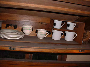 Original crockery still there, last used in 1939