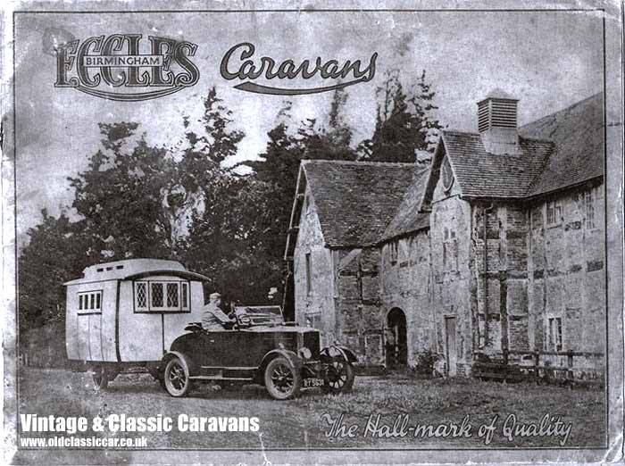 Cover of the Eccles caravan catalogue from the 1920s