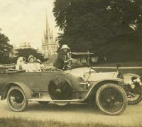 Vintage Crossley motor-car photograph