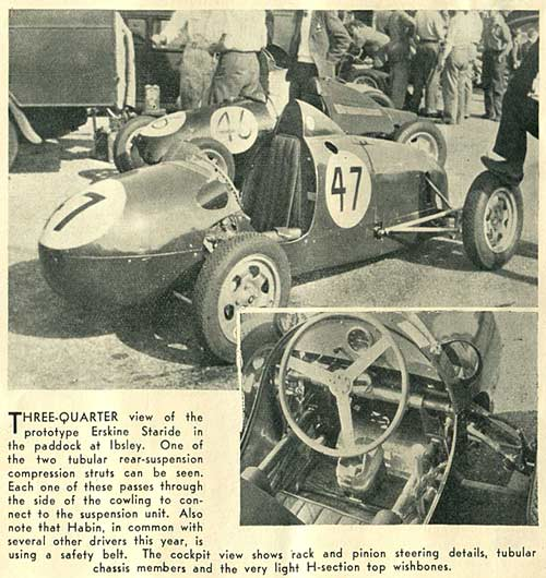 The Erskine Staride 500cc racing car