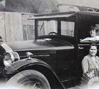 A vintage 1920's Essex car