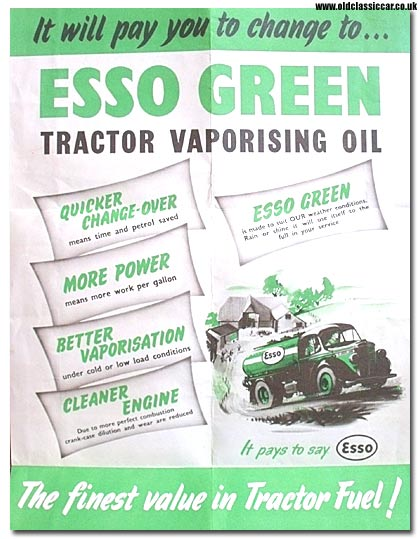 Esso tractor fuel poster