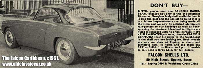 An advertisement for Falcon bodyshells