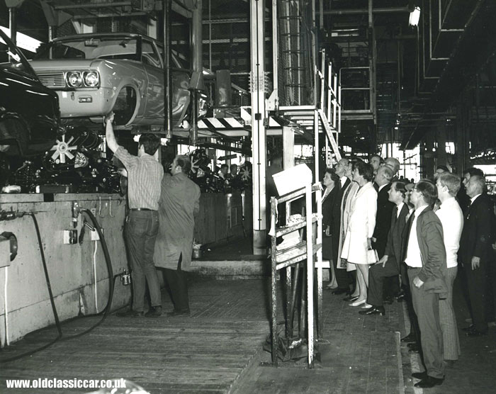Vauxhall Victors on the production line