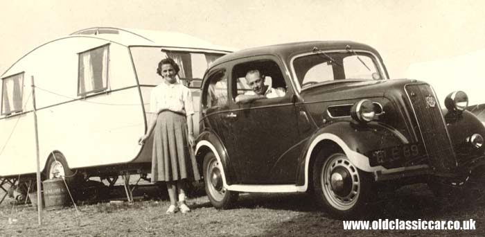 The pre-war Ford and caravan