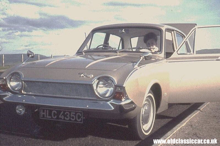 A gold 1965 Corsair front view